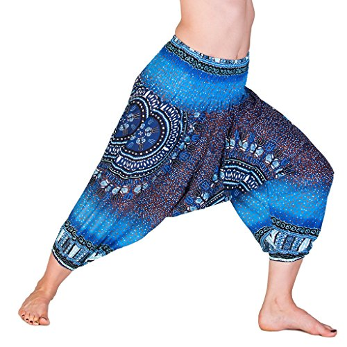 PANASIAM Aladin Pants 3/4, Maoi_Blue