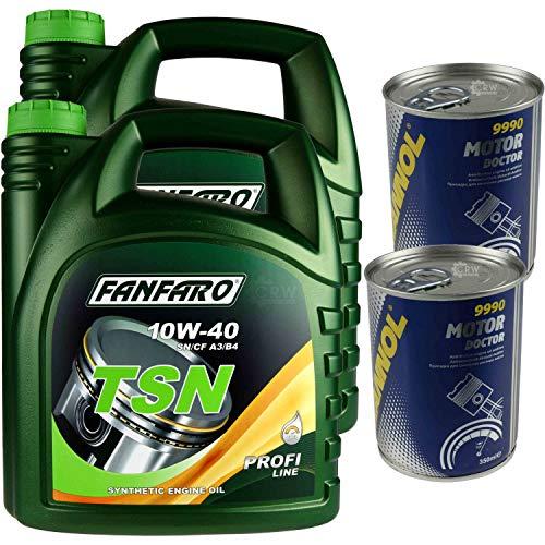 Aceite para motor FANFARO TSN 10W-40 de 8L, 2 x Mannol Motor Doctor ADDITIV