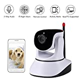 Nexgadget 720P HD Wireless Security IP Camera Pan Tilt with Two-Way Audio, Night Vision, Baby Pet Video Monitor Nanny Cam, Motion Detection P2P Network Camera