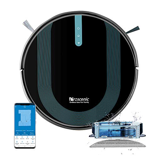 Proscenic 850T Wi-Fi Connected Robot Vacuum Cleaner, Works with Alexa & Google Home, 3-in-1 Mopping, Self-Charging with 3000Pa Strong Suction on Carpets and Hard Floors, Boundary Strip for no-go line