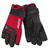 Musto Perfomance Sailing Yachting and Dinghy Short Finger Gloves Red - Adults Unisex - Lightweight. Breathable - Easy Stretch
