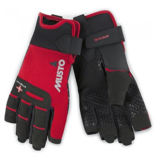 guanti barca a vela Musto Performance Short Finger Sailing Gloves - 2018 - True Red XL
