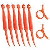 SS SHOVAN Orange Citrus Peeler, Kitchen Tool Safe Plastic Easy...