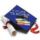 Tassel Toppers Future Teacher Graduation Cap Decorated Grad Caps - Decorating Kits