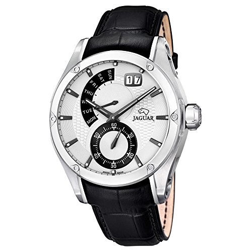 Jaguar Armband aus Polyurethan, schwarz PVD-beschichtet
