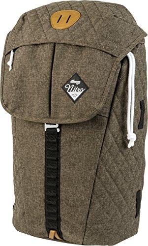 """Nitro Cypress sportiver Daypack Rucksack für Uni & Freizeit, Streetpack mit gepolstertem 15"""" Wide Laptopfach & Seesacktunnelverschluss, Überschlagdeckel, Burnt Olive, 28 L , 42 cmx28 cmx16 cm, 680g"""
