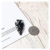 天然水晶原石 1ピースブラックオブザイディアンarrowチャクラアクセサリー素材邪悪な精神天然石 (Farbe : 1.5 2inch)