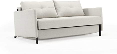 Cubed 02 Deluxe Sofa w/Arms (Full Size) Mixed Dance Natural by Innovation