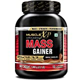 MuscleXP Mass Gainer - With 26 Vitamins and Minerals, Digestive Enzymes, Double Chocolate