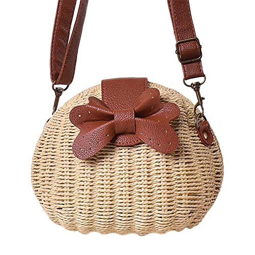 XIXIAO Crossbody Bag Woven Bag Beach Bag Straw Bag for Ladies Weekender Travel