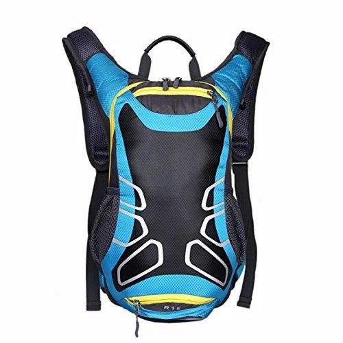 Vélo équitation sac à dos sac nylon imperméable à l'eau léger avec casque poche filet pour les sports de plein air tels que la randonnée Camping voyage 5 couleurs H41 x W24 x T16cm , blue