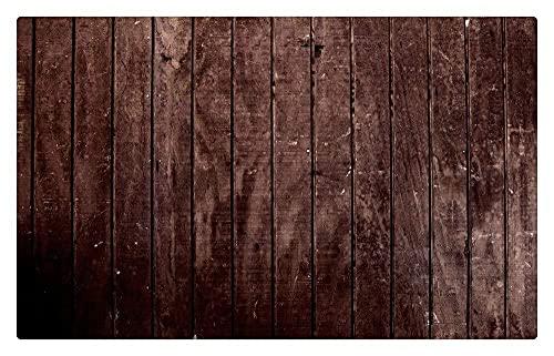 Alfombrilla madera rústica para puerta, alfombrilla para puerta, raspador para zapatos, panel madera a rayas, embellecedor para puerta entrada, alfombrilla exterior para puerta interior 24