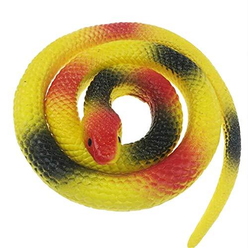 Yesiidor Toy Snakes Rubber Fake Snake Halloween Tricky Toy Spukhaus Dekoration Requisiten,Gelb 1