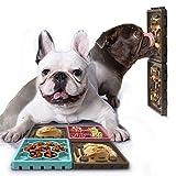 PETTOM Hund Langsame Fütterung Hundenapf Leckerlimatte für Hunde Set Hundeleckmatte zum Baden und Fellpflegen