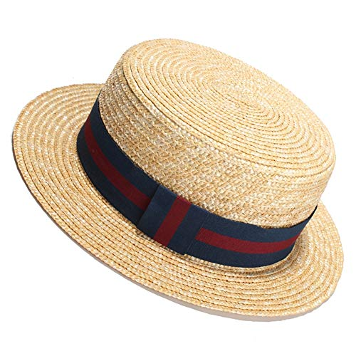 LTSWEET Strohhut Damen Outdoor Sommer Sonnenschutz Kreissäge Strohhut Beach Cap Soft Sonnenschut UV-Schutz Mikroperforiertes Atmungsaktiv Verstellbarer Kordelzug Erwachsene Klassische,B