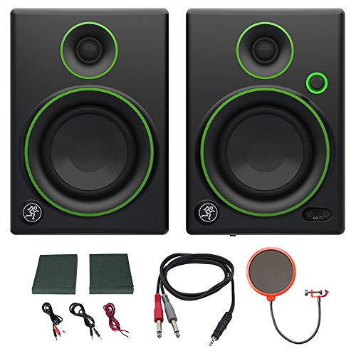 Buy Cheap Mackie CR4 Creative Reference Multimedia Monitor (Pair) w/Pro DJ Bundle Includes, 3-feet 1...