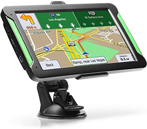 "GPS Navigation for Car, LTTRBX 7"" Touch Screen 8GB Real Voice Spoken Turn-by-Turn Direction..."
