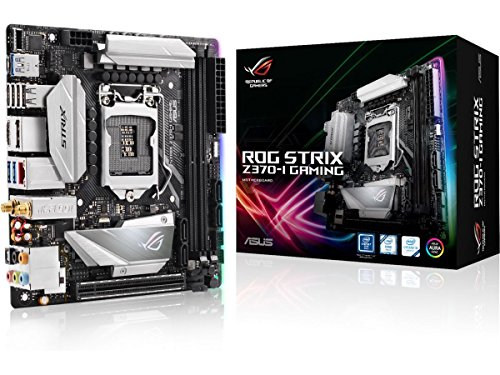 Asus Intel Z370 mini-ITX - Placa base gaming con Addressable AURA sync RGB iluminación LED, 802.11ac Wi-Fi, DDR4 4333MHz , dual M.2, SATA 6Gbps y a USB 3.1 Gen 2 conector panel frontal