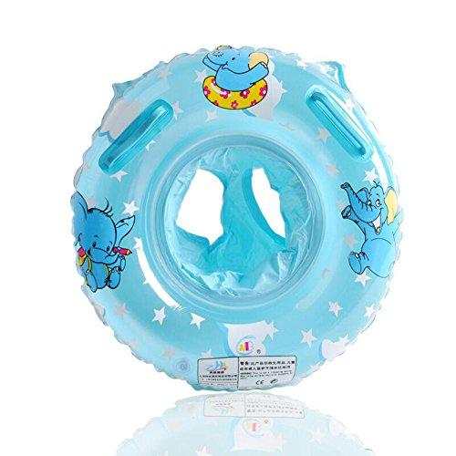 UCLEVER Baby Kleinkinder Schwimmsitz Schwimmhilfe Schwimmring Elefant (Blau)