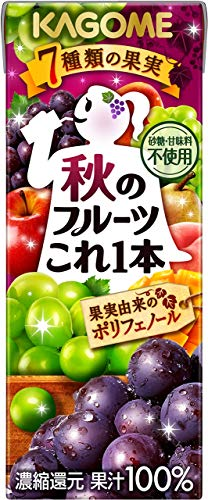 カゴメ 秋のフルーツこれ一本 200ml ×24本