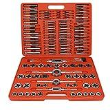 GNEGNIS 110 Piezas Tap & Die Set, Juegos de herramientas para Caja de Metal Acero de Tungsteno para hilo M2-M18