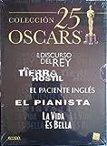COLECCION 25 OSCARS ; EL DISCURSO DEL REY - EN TIERRA HOSTIL - EL PACIENTE INGLÉS - EL PIANISTA -...