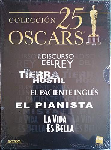 COLECCION 25 OSCARS ; EL DISCURSO DEL REY - EN TIERRA HOSTIL - EL PACIENTE INGLÉS - EL PIANISTA - LA VIDA ES BELLA (FNAC)