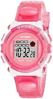 Yuanhua Luminous Watch,Boys Girls Fashionable Sports Multi-functional Waterproof Electronic Wrist Watch Watch Band