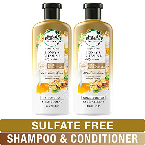 Herbal Essences, Sulfate Free Shampoo and Conditioner Kit With Natural Source Ingredients, BioRenew...