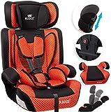 KIDIZ Autokindersitz Kindersitz Kinderautositz | Autositz Sitzschale | 9 kg - 36 kg 1-12 Jahre | Gruppe 1/2 / 3 | universal | zugelassen nach ECE R44/04 | 6 verschiedenen Farben | Rot