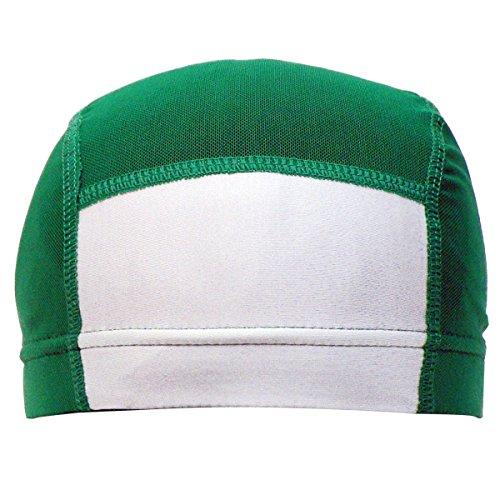 アスナロ(帽子・キャップ) 水泳帽 子供 スイムキャップ 男女兼用 名前札付 メッシュ キャップM グリーン