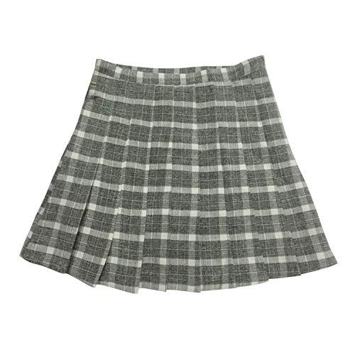 Feing Pleated Skirts Donne Gonna Pieghe Gonne Giapponesi Mini Scuola Uniforme Jupe Kawaii Gonna Grigio Small