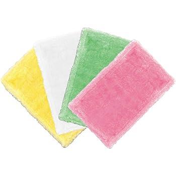 アズマ 台拭き ふしぎクロス4色組 25×15cm ピンクイエローブルーグリーン 洗剤不要