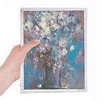 フラワーブルーxjj油絵 硬質プラスチックルーズリーフノートノート