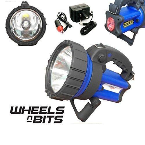 Wheels N Bits 6 MILLION 5 WATT CREE 600M BEAM RECHARGEABLE TORCH SPOT LAMP HAND