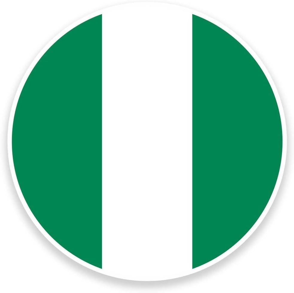 2 x 20cm- 200mm Nigeria Flag Map Vinyl SELF ADHESIVE STICKER Decal Laptop Travel Luggage Car iPad Sign Fun #9036