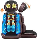 Nacken- und Rückenmassagegerät mit Wärmemassage-Sessel-Pad tragbar, Knetenstuhl-Massagegerät...