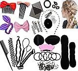 Liuer Accessoires de Coiffure Set, Cheveux Modélisation Outil Kit, Multi Set Outils de coiffure Kit de Coiffure pour Femmes et Filles Convient pour Les Débutants Mode Cheveux Conception DIY(26pcs)