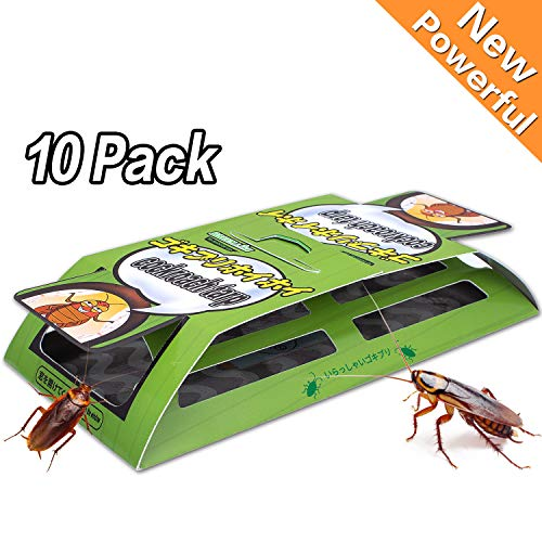 Dekugaa Cockroach Traps with Bait 10 Pack Sticky Paper Premium Glue Trap | Insect Trap | EcoFriendly | Spiders Ants Roach Killer