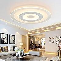 WEM シーリングライトLedシーリングランプモダンミニマリストリビングルームランプホームラウンドマスターベッドルームランプ超薄型雰囲気レストランルームランプ,A,直径78cm-61W