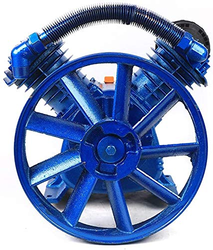 DYRABREST Air Compressor Pump, 5.5Hp 21Cfm 115Psi V Type Twin Cylinder Air Compressor Pump Head Double Stage Replacement Universal Single Oil Lubricated Piston Style Air Compressor Pump Head