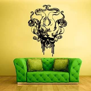 STICKERSFORLIFE Wall Decal Vinyl Sticker Decals Octopus Sprut Tentacles Big Skull Kraken Z1597