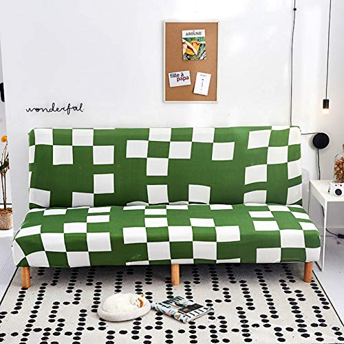 SSDLRSF Fundas sofá Funda de sofá Cama sin Brazos Estampada elástica de 185-215cm Funda de Asiento Plegable Fundas de sofá Cama elásticas Modernas Protector de sofá