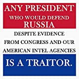 ANY PRESIDENT WHO WOULD DEFEND RUSSIA IS A TRAITOR Vinyl Decal Wall Laptop...