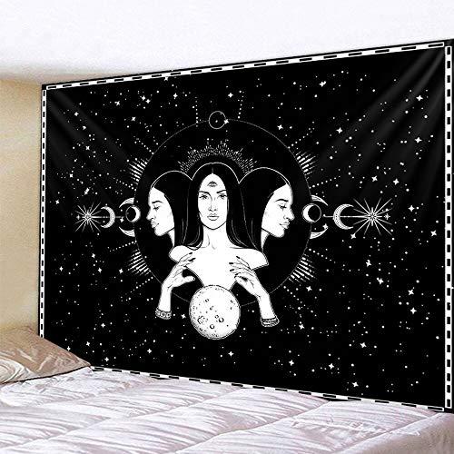 Tarjeta de Tarot adivinación decoración del hogar tapiz de brujería Mandala decoración de pared Hippie tapiz bohemio a1 180x200cm