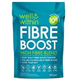High Fibre Supplement Powder Prebiotic -10g Boost = 1/3 of Your NHS Daily Fibre (200g Bag, 30 Servings x 5g Fibre) Well Within Gut Health Prebiotic Fibre Powder Blend 4in1 Inulin Acacia Pea Psyllium