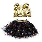 Sencillo Vida American Girls Ropa - Conjunto de Tops y Falda de Baile para American Girl 18 Pulgadas - Muñecas Fashion y Accesorios Doll Ropa Set (Amarillo)