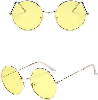 نظارات شمسية مستديرة سوداء بإطار سلكي ذهبي من Nuni مقاس صغير