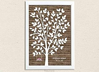 Les Connie Love Birds Guest Book Tree Swingalong 12x16 inches Paper Framed Decor Tree Peachwik Party Printable 125 Guests Wedding Tree Paper Guest Book Party Printable