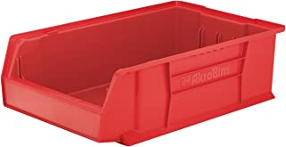 $66 » Akro-Mils 30280 20-Inch D by 12-Inch W by 6-Inch H Super Size Plastic Stacking Storage Akro Bin, Red, Case of 4